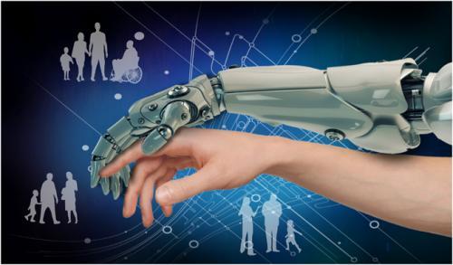 Robotic hand guiding human hand